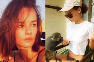 Wychudzona Natalia Szroeder z małpą promują teledysk nakręcony na Bali