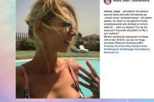 Mentorka Tatiana stresuje się na plaży