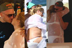 Zakochana Niezgoda w koronkach całuje chłopaka na plaży (ZDJĘCIA)