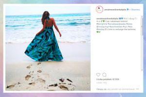"""Lewandowska we wzorzystej sukni """"ładuje baterie"""" w tropikach"""