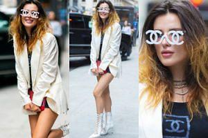"""Panseksualna i rozczochrana Bella Thorne ogląda świat zza """"praktycznych"""" okularów Chanel (ZDJĘCIA)"""