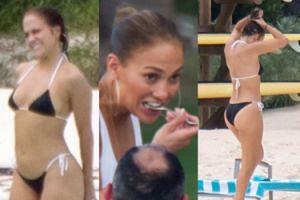 49-LETNIA Jennifer Lopez świętuje urodziny w kusym bikini (ZDJĘCIA)