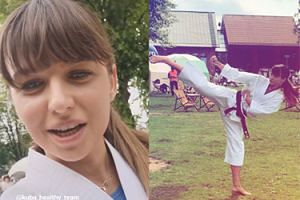 """Anna Lewandowska poprowadziła trening karate w kimonie: """"Jestem taka wzruszona"""""""