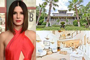 Sandra Bullock wystawiła na sprzedaż wakacyjną posiadłość na południu USA. Gustownie się urządziła? (ZDJĘCIA)