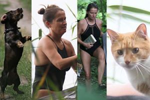Monika Jaruzelska wypoczywa na Mazurach w towarzystwie psa i kota (ZDJĘCIA)