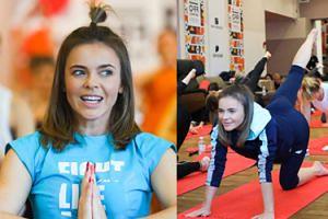 Zwinna Edyta Herbuś ćwiczy jogę na Festiwalu Off Camera (FOTO)