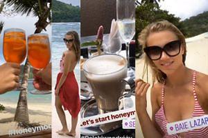 Kaczorowska relacjonuje podróż poślubną na Seszele - śniadanie z widokiem na ocean, kolorowe drinki...