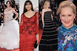 """Wenecja 2019: Penelope Cruz w """"sukni ślubnej"""", ognista Monica Bellucci, elegancka Cate Blanchett, uśmiechnięta Meryl Streep... (ZDJĘCIA)"""