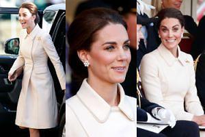Elegancka księżna Kate zadaje szyku na paradzie wojskowej. BEZ WILLIAMA (ZDJĘCIA)