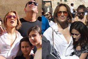 Uduchowiona Jennifer Lopez zwiedza Jerozolimę w rozpiętej koszuli (FOTO)