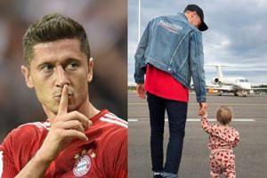 Wylansowany Robert Lewandowski w ubraniach Balenciagi pozuje z Klarą (FOTO)