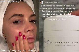 Victoria Beckham używa kremu z własną krwią za... prawie 6 tysięcy złotych