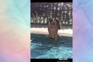 Sara i Artur Borucowe obłapiają się w basenie