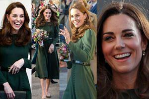 """Księżna Kate w sukience """"własnego projektu"""" odwiedza organizację charytatywną (ZDJĘCIA)"""