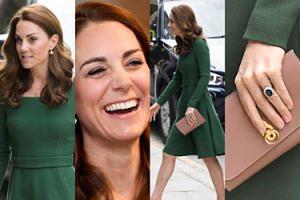"""Szczupła Kate Middleton """"wraca do pracy"""" w sukience od ulubionej projektantki (ZDJĘCIA)"""