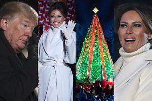 Wzruszony Donald Trump i podekscytowana Melania zapalają choinkę przed Białym Domem (ZDJĘCIA)
