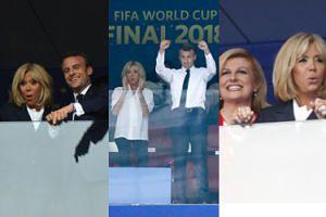 Mundial 2018: Francuski Macron czy chorwacka Grabar-Kitarović? Prezydenci oglądają finał mistrzostw (ZDJĘCIA)