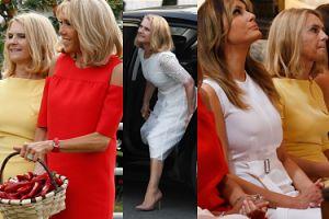Eleganckie żony polityków na szczycie G7: Małgorzata Tusk w towarzystwie Brigitte Macron i Melanii Trump