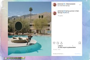 Jessica Mercedes relaksuje się nad basenem w Palm Springs