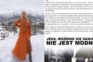 """Jessica Mercedes krytykowana za jazdę saniami w Zakopanem. """"Twoja rozrywka to ich cierpienie!"""""""