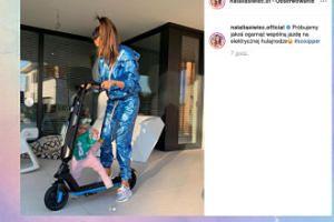 Natalia Siwiec z córeczką poznają elektryczną hulajnogę