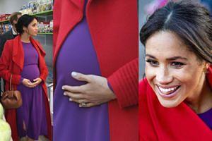 Meghan Markle trzyma się za brzuch na otwarciu supermarketu dla ubogich rodzin (ZDJĘCIA)