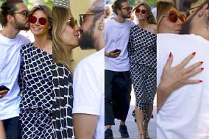 Publiczne pieszczoty Heidi Klum i żonatego gitarzysty Tokio Hotel na romantycznym spacerze (ZDJĘCIA)