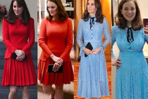 Zakręcona fanka Kate Middleton kopiuje jej stylizacje za drobniaki (ZDJĘCIA)