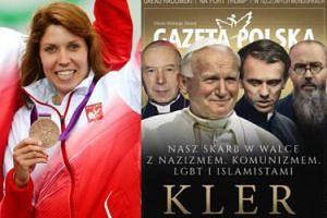 """Polska medalistka olimpijska kłóci się z fanami o """"Kler"""": """"Przykro patrzeć, jak twój tata DLA SZWABÓW PRACUJE"""""""