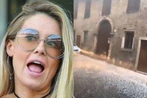 """Zszokowana Małgosia Rozenek zaciąga się zapachem gradu w Weronie: """"Pachnie śniegiem i w ogóle to jest niesamowite!"""""""