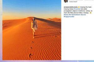 Ania Wendzikowska wspomina dubajskie wakacje