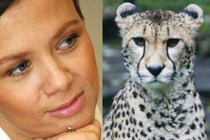 """Kinga Rusin broni okładki z gepardem: """"SAM DO MNIE PODSZEDŁ"""""""