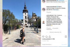 Katarzyna Zielińska pozdrawia z rodzinnego miasta