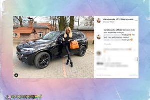 Ula Radwańska chwali się samochodem