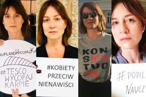 Maja Ostaszewska przeciwko światu. Wszystkie protesty aktorki: dziki, karpie, nauczyciele, czarny protest, LGBT, sądy i więcej (ZDJĘCIA)