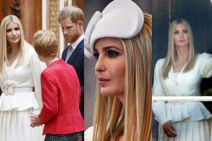 """Ivanka Trump w Pałacu Buckingham: chłodne spotkanie z Harrym i """"patriotyczne faux pas"""" (ZDJĘCIA)"""