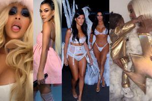 Halloweenowe szaleństwo u Kardashianek: Aniołki Victoria's Secret, Kourtney jako Ariana Grande... (ZDJĘCIA)