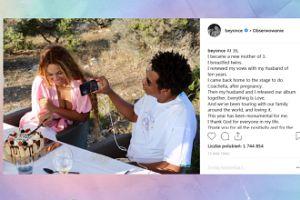 Jay-Z robi zdjęcie Beyonce krojącej urodzinowy tort