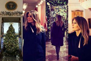 Melania Trump pochwaliła się KRWAWYMI dekoracjami świątecznymi w Białym Domu (ZDJĘCIA)
