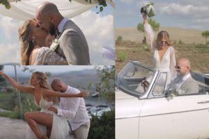 Kaczorowska pokazała film ze ślubu: przytulanki, wygibasy i reklama wina (WIDEO)