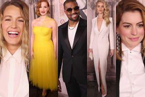 Blake Lively, Anne Hathaway i uśmiechnięty Kanye West lansują się na pokazie w Nowym Jorku (ZDJĘCIA)