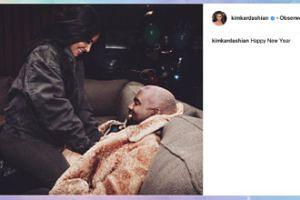 Noworoczne czułości Kim i Kanyego