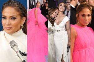 Jennifer Lopez w sukni z KILKUMETROWYM TRENEM zamiata dywan na premierze swojego filmu (ZDJĘCIA)