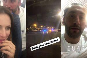 """Maserak przeżył awaryjne lądowanie w Warszawie! """"Noc była ciężka"""""""