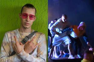 """Żabson tłumaczy się z incydentu z ochroniarzami na koncercie: """"Skakałem na ludzi ponad 150 razy"""""""