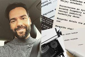 """Conrado Moreno został """"poetą""""! """"Dobre słowo buduje, złe słowo rujnuje"""""""
