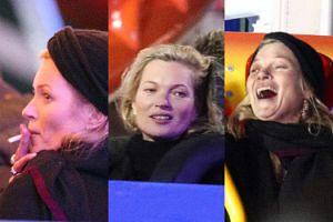 Kate Moss z papieroskiem szaleje w zimowym parku zabaw (ZDJĘCIA)