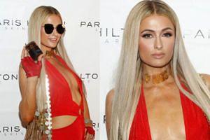 Biust Paris Hilton promuje nową linię kosmetyków. Kuszący? (FOTO)