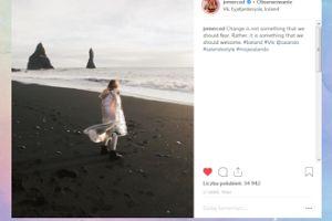 Jessica Mercedes udaje Bjork na islandzkiej plaży