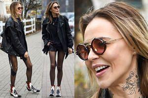 Chude jak słomki nogi Sablewskiej idą do modnej restauracji (ZDJĘCIA)